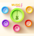 music web design concept vector image