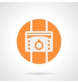 Orange heat regulator round icon vector image vector image