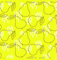 outline pears bright yellow seamless vector image vector image