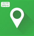 pin gps icon business concept location map vector image