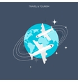 Planes icon World travel concept background vector image