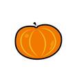 pumpkin icon on white vector image vector image