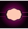 Purple seamless geometric pattern with vintage vector image vector image