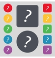 Question mark sign icon Help symbol FAQ sign Set vector image