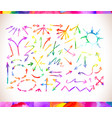 rainbow colors arrow collectio vector image