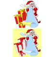 Santa Claus with a scroll and Christmas gifts vector image