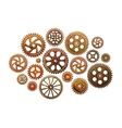Set of gear wheels Industry vector image