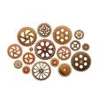 Set of gear wheels Industry vector image