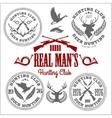 set of vintage hunting emblems vector image vector image