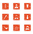 shear icons set grunge style vector image vector image