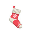 single sock new year vector image
