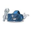 smart mechanic vr virtual reality cartoon vector image vector image