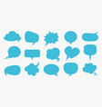 speech bubbles blue blank comment balloons set vector image