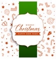 stylish merry christmas greeting with decorative vector image