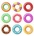 swim rings swimming ring colorful buoy pool kids vector image
