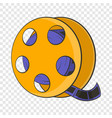 tape with film icon cartoon style vector image
