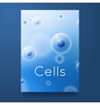 Text cells on blue background group of cells vector image