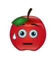 tomato character isolated icon vector image vector image