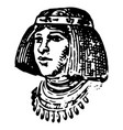 vintage engraving an egyptian vector image vector image