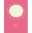 Vintage pink wedding card vector image vector image