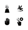 warning attention simple related icons vector image vector image