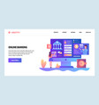 web site design template online banking vector image