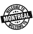 welcome to montreal black stamp vector image