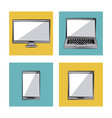 white background with color frames with icons in vector image vector image