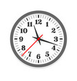 white clock icon single isolated vector image vector image