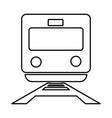 train black color icon vector image
