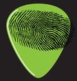 guitar pick fingerprint green vector image