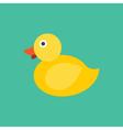Yellow Duck Icon Animal vector image