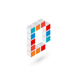 3d cube letter D logo icon design template vector image vector image