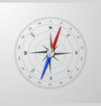 3d realistic compass with windrose closeup vector image