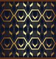 abstract art seamless blue and golden pattern 11 vector image vector image
