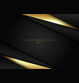 abstract elegant template black and gold triangle vector image vector image