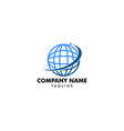 abstract globe logo vector image vector image