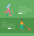 active lifestyle and city park vector image