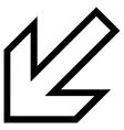Arrow Left Down Stroke Icon vector image