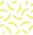 bananas pattern seamless fruit background vector image vector image