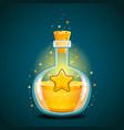 bottle of magic elixir with star vector image vector image
