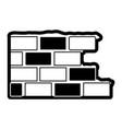 brick wall flat icon black silhouette vector image