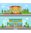 Cafe Flat Banner Set vector image vector image