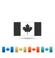 canada flag icon isolated on white background vector image