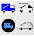 composition of gradiented dotted service van and vector image vector image