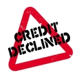 Credit Declined rubber stamp