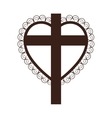 crucifix christian or catholic icon image vector image vector image