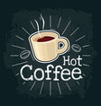 cup of coffee flat with vector image vector image