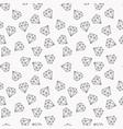 diamonds random seamless pattern or vector image