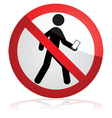 Do not walk and text vector image vector image